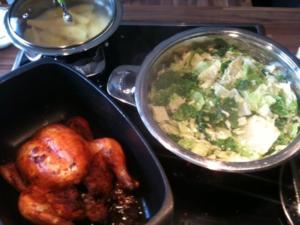 Zubereitung von Hähnchen, Wirsingkohl, Kartoffeln - Rezept