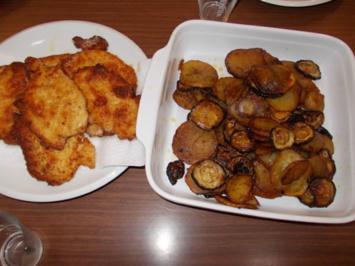 Rezept: Essig Kartoffeln mit Zucchini