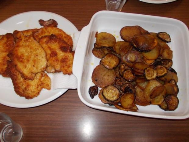 Essig Kartoffeln mit Zucchini - Rezept