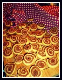 Rezept: Marzipan-Schoko-Spiralenkekse