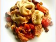 Tortellini mit Ziegenfrischkäse-Füllung und Feigen-Tomaten-Ragout - Rezept