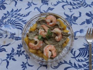 MANGO-GAMBAS-AVOCADO SALAT - Rezept