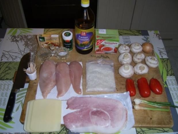 Cordonbleu mit Tomatenrisotto und Champignongemüse. - Rezept - Bild Nr. 2