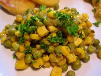 Rezept: Gemüse aus Mais mit grünen Erbsen