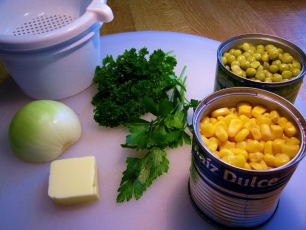 Gemüse aus Mais mit grünen Erbsen - Rezept - Bild Nr. 2