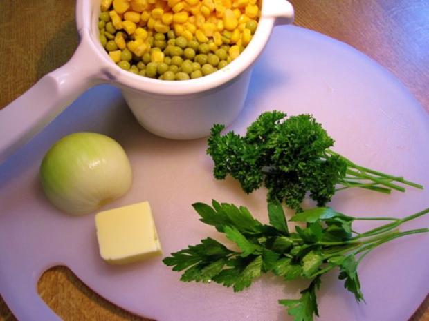 Gemüse aus Mais mit grünen Erbsen - Rezept - Bild Nr. 3