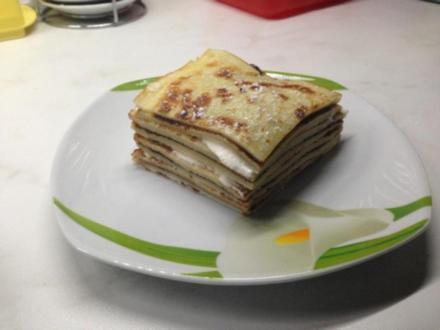 Eierkuchen Torte - Rezept