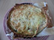 Champignon-Lauch-Tarte mit Senfquark - Rezept