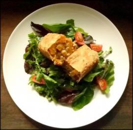 Kürbis-Strudel mit herbstlichem Salat - Rezept