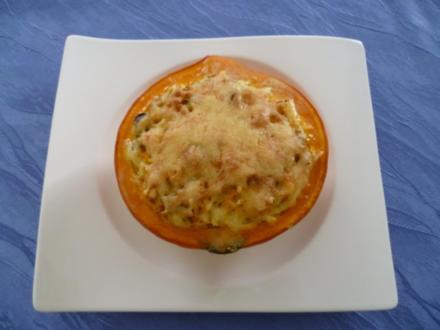 Vegetarisches - Gefüllter Hokkaido-Kürbis aus dem Ofen - Rezept