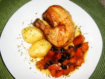 Rezept: Hähnchen mit Kürbisfüllung
