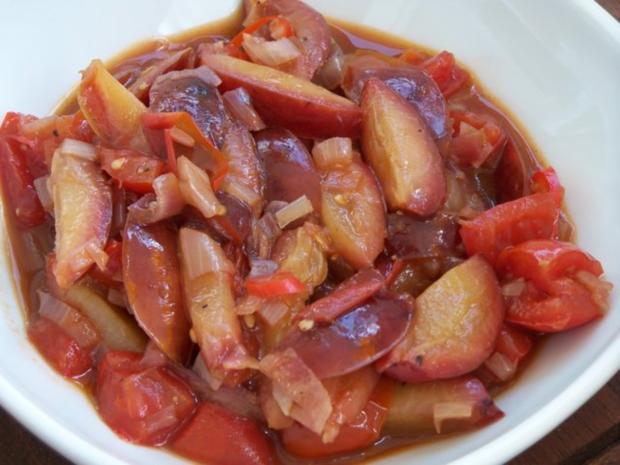 Zwetschgen-Tomaten-Chutney - Rezept