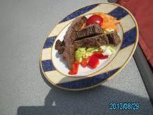 Flanksteak auf Salatteller - Rezept