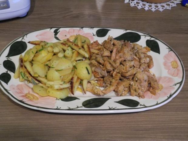 Schwein : Gyros mit Tzatziki an Kartoffel-Schupfnudel-Pfanne - Rezept - Bild Nr. 12