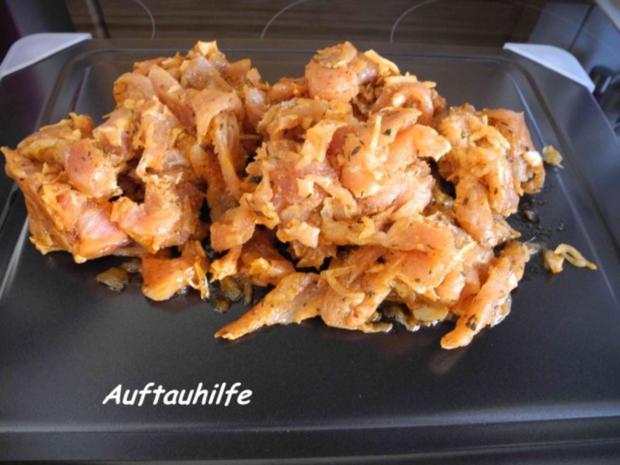 Schwein : Gyros mit Tzatziki an Kartoffel-Schupfnudel-Pfanne - Rezept - Bild Nr. 2