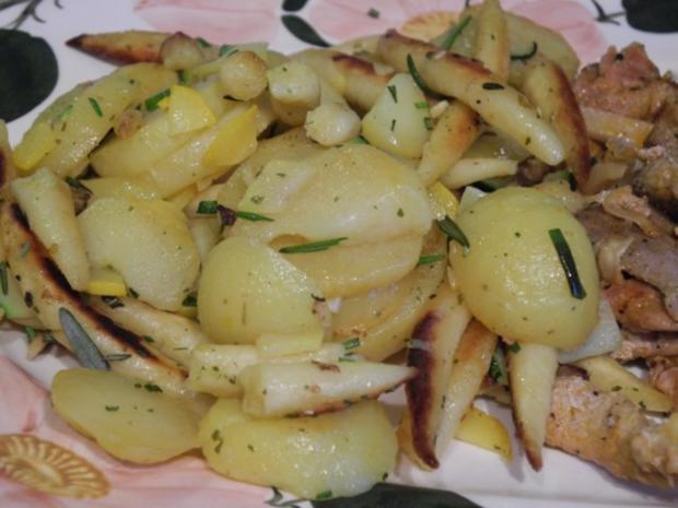 Schwein : Gyros mit Tzatziki an Kartoffel-Schupfnudel-Pfanne - Rezept - Bild Nr. 11