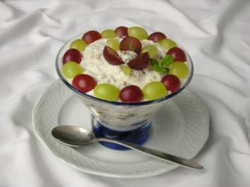 Weintrauben Dessert mit Quark - Joghurtcreme - Rezept