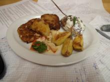 Variation von Schnitzel und Kartoffel - Rezept
