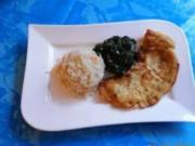 Kochen:Scholle im Kräuterbackteig und Spinat - Rezept
