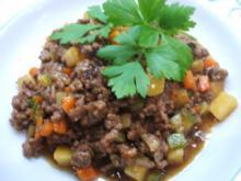 Fleisch: Hackfleischpfanne mit Gemüse - Rezept