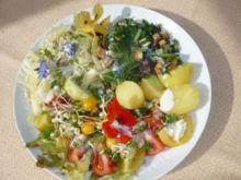 Mangold mit Pellkartoffeln und Rohkost - Rezept