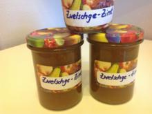 Zimt - Zwetschgen - Marmelade - Rezept