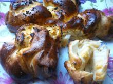 kleine Feta-Frischkäsecreme Hefezöpfe - Rezept