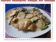Fisch: Gedämpfter Kabeljau mit Käsesoße - Rezept