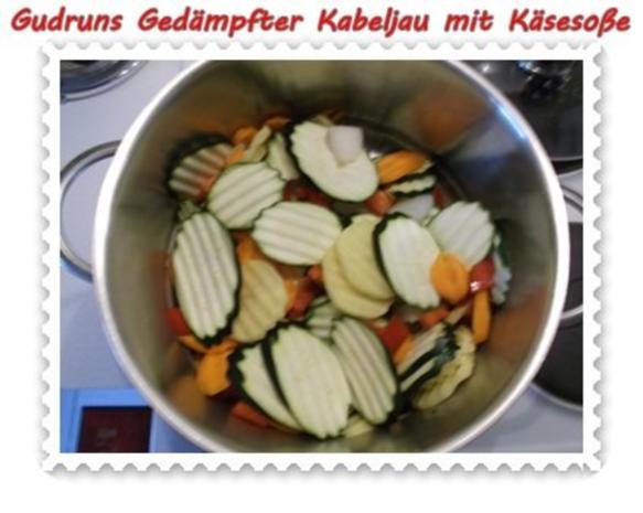 Fisch: Gedämpfter Kabeljau mit Käsesoße - Rezept - Bild Nr. 5