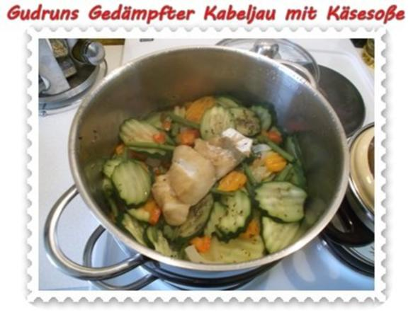 Fisch: Gedämpfter Kabeljau mit Käsesoße - Rezept - Bild Nr. 12
