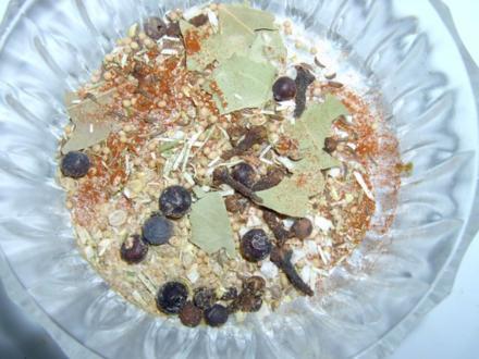 Gurken und Cornichons Einmach- Gewürzmischung, zuckerhaltig - Rezept