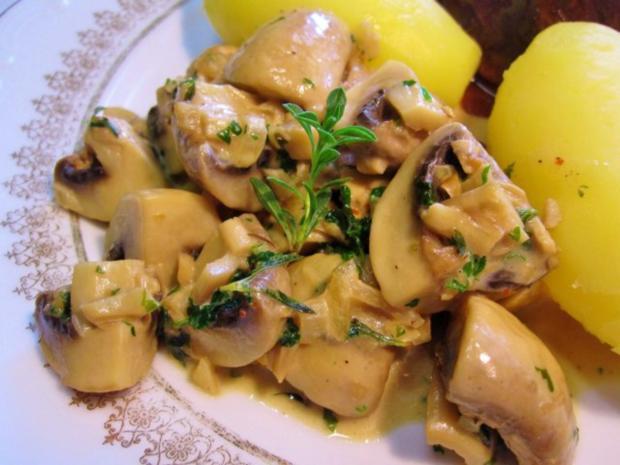 Champignons in Kräuter-Rahm ... - Rezept - Bild Nr. 6