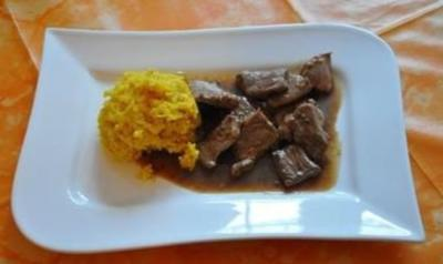 Rezept: Kochen:Entenragout in Honigsosse mit Kurkumareis