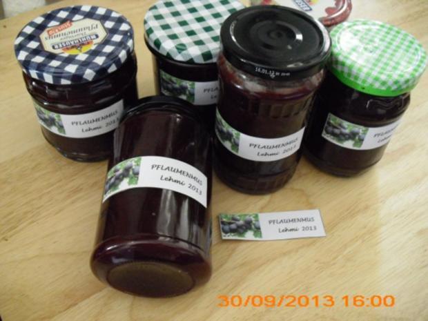 Pflaumenmus, Lehmis Spezial - Rezept
