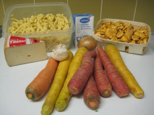 Spätzli Karotten Pilz Gratin - Rezept - Bild Nr. 3
