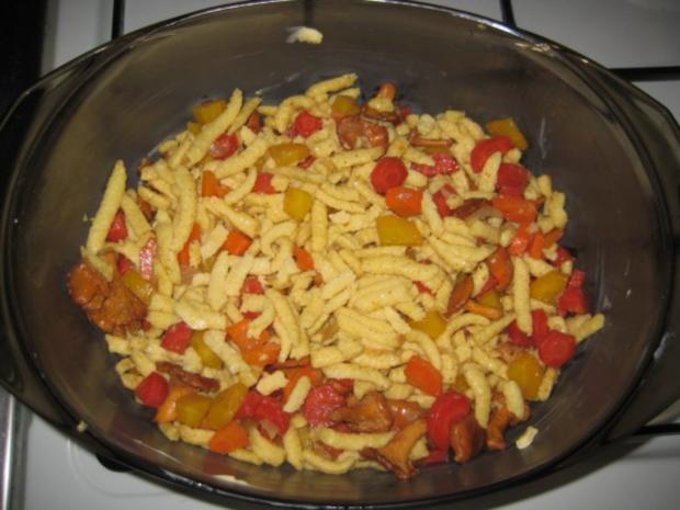Spätzli Karotten Pilz Gratin - Rezept - Bild Nr. 11