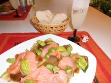 Zucchini-Lachs-Carpaccio>> - Rezept