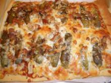 Chicken-Pizza süß-sauer - Rezept