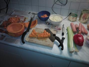 Kürbiscreme-Suppe, pikant - Rezept