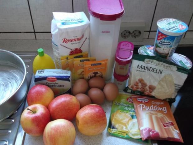 Apfelkuchen mit Schmand und Streusel - Rezept - Bild Nr. 2