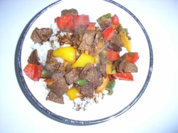Chinesisches Rindvleisch mit Paprika - Rezept
