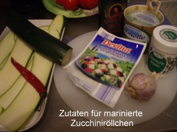 Finger food - Zucchiniröllchen - mariniert - Rezept - Bild Nr. 2