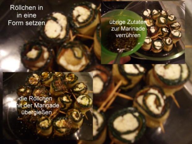 Finger food - Zucchiniröllchen - mariniert - Rezept - Bild Nr. 6