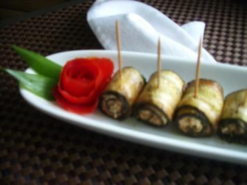 Finger food - Zucchiniröllchen - mariniert - Rezept