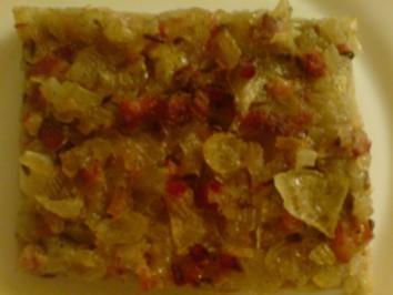Rezept: Zwiebelkuchen - sehr einfach