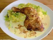 Hähnchenkeulen mit Kartoffel-Wirsing-Püree - Rezept
