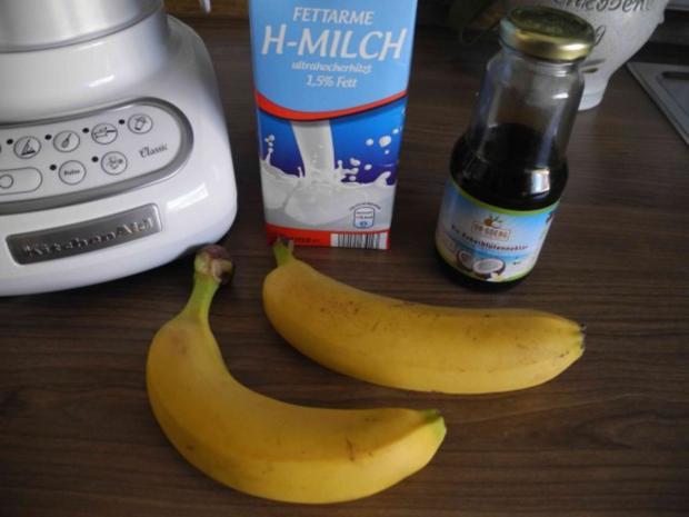 Dessert : In Kokosblütensirup karamelisierte Bananen - Rezept