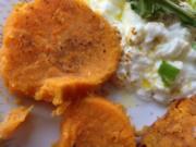 Süßkartoffel mit Schmand  und Rucolasalat - Rezept