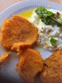 Rezept: Süßkartoffel mit Schmand  und Rucolasalat