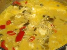 exotisches Putengeschnetzteltes mit Ananas, Mungobohnen und Kokosmilch - Rezept